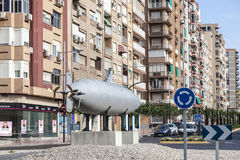 Historic Peral submarine in Cartagena, Spain Stock Photography