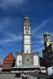 Historic PERLACHTURM tower in Augsburg, Germany Royalty Free Stock Photography