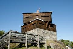 Historic Petit Sault Blockhouse - Edmundston - New Brunswick Stock Photography