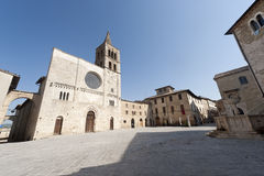 Historic Piazza Silvestri in Bevagna Royalty Free Stock Photography