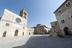 Historic Piazza Silvestri in Bevagna Royalty Free Stock Photos