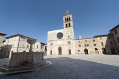 Historic Piazza Silvestri in Bevagna Stock Image
