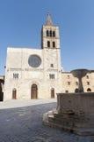 Historic Piazza Silvestri in Bevagna Stock Image