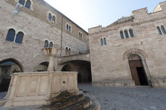 Historic Piazza Silvestri in Bevagna Royalty Free Stock Images