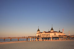Historic pier. Ahlbeck, Usedom, Baltic Sea Stock Image