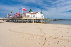 Historic Pier Ahlbeck Stock Photography