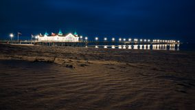 The historic pier of Ahlbeck. On the sunny island of Usedom, recorded in the evening with a long exposure Stock Photography