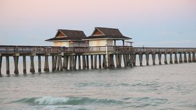 Historic Pier in Naples, Florida stock video footage