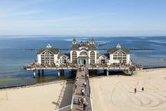 Historic pier of Sellin, Ruegen Stock Photography