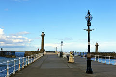 Historic pier at Whitby. Royalty Free Stock Photo
