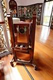 Historic Pinang Peranakan Mansion in Georgetown, Penang. Penang,Malaysia- December 29, 2011: An antique camera in the Pinang Peranakan Mansion in Georgetown Royalty Free Stock Image