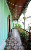 Historic Pinang Peranakan Mansion in Georgetown, Penang. Penang, Malaysia - December 29, 2011:Historic balcony in Pinang Peranakan Mansion in Georgetown,Malaysia Royalty Free Stock Image