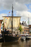 Historic Pirate boat in Groningen.The Netherlands Stock Images