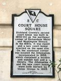 Historic Placard Court House Square in Columbia, South Carolina.  royalty free stock images