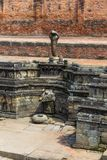 Historic place of water extraction in Bhaktapur town. Royalty Free Stock Image