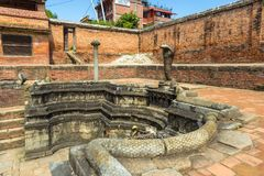 Historic place of water extraction in Bhaktapur town. Stock Images