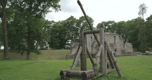 The historic place where old castle remains is located in Estonia FS700 4K RAW Odyssey 7Q stock footage