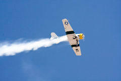 Historic plane in air show - North American AT6 Royalty Free Stock Photo