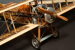 Historic plane construction Royalty Free Stock Images