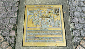 Historic plaque along the Waterfront in Kuching Royalty Free Stock Photography