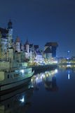 Historic Polish city of Gdansk at night Royalty Free Stock Photography