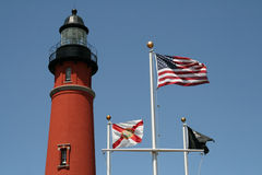 Historic Ponce De Leon lighthouse Royalty Free Stock Images