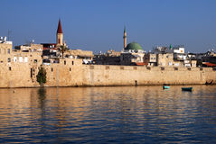 The historic port of Acre in Akko Royalty Free Stock Photography