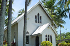 Historic Port Douglas Chapel by Sea royalty free stock photography