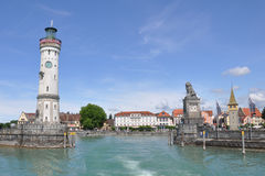 Historic port of Lindau at lake constance Royalty Free Stock Photography