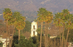 Historic Post Office and palm trees in Ojai, California Royalty Free Stock Photography