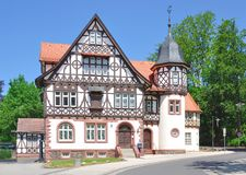 Historic Post Office,Thuringian Forest,Bad Liebenstein Stock Photos