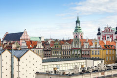 Historic Poznan City buildings located on a main square Royalty Free Stock Photography