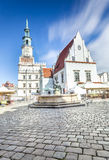 Historic Poznan City Hall located in the middle of a main square Royalty Free Stock Photos