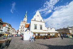 Historic Poznan City Hall located in the middle of a main square Stock Images