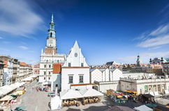 Historic Poznan City Hall on main square, Poland Stock Photography