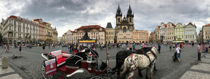 Historic Prague, Czech Republic City Center Panorama royalty free stock photo