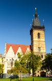 Historic Prague new town hall Stock Photo