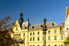 Historic Prague new town hall Stock Image