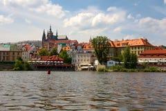 Historic Prague Riverside Royalty Free Stock Photos