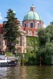 Historic Prague Riverside Stock Images