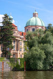 Historic Prague Riverside Stock Photos