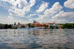 Historic Prague Riverside Royalty Free Stock Photo