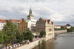 Historic Prague on Vltava Stock Photography
