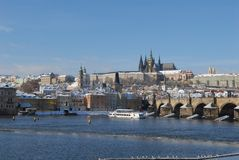 Historic Prague in winter Stock Image
