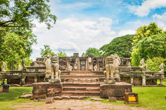 Historic Prasat Hin Phimai Castle at Nakhon Ratchasima Province, Royalty Free Stock Images