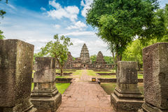 Historic Prasat Hin Phimai Castle at Nakhon Ratchasima Province, Royalty Free Stock Photography