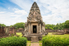 Historic Prasat Hin Phimai Castle at Nakhon Ratchasima Province, Royalty Free Stock Photo