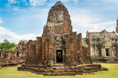 Historic Prasat Hin Phimai Castle at Nakhon Ratchasima Province, Stock Photo