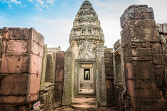 Historic Prasat Hin Phimai Castle at Nakhon Ratchasima Province, Royalty Free Stock Image