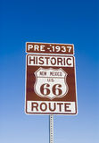 Historic Pre 1937 New Mexico Route 66 Sign Royalty Free Stock Photo